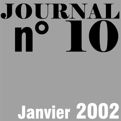 JOURNAL N°10 - JANVIER 2002