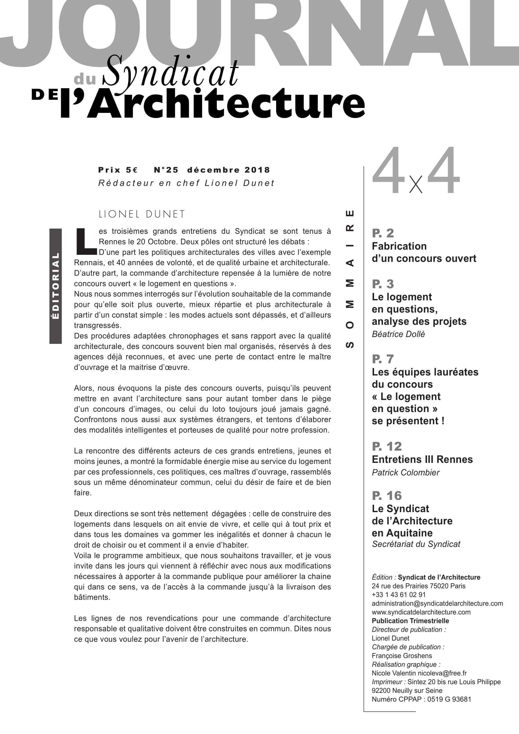 JOURNAL N°25