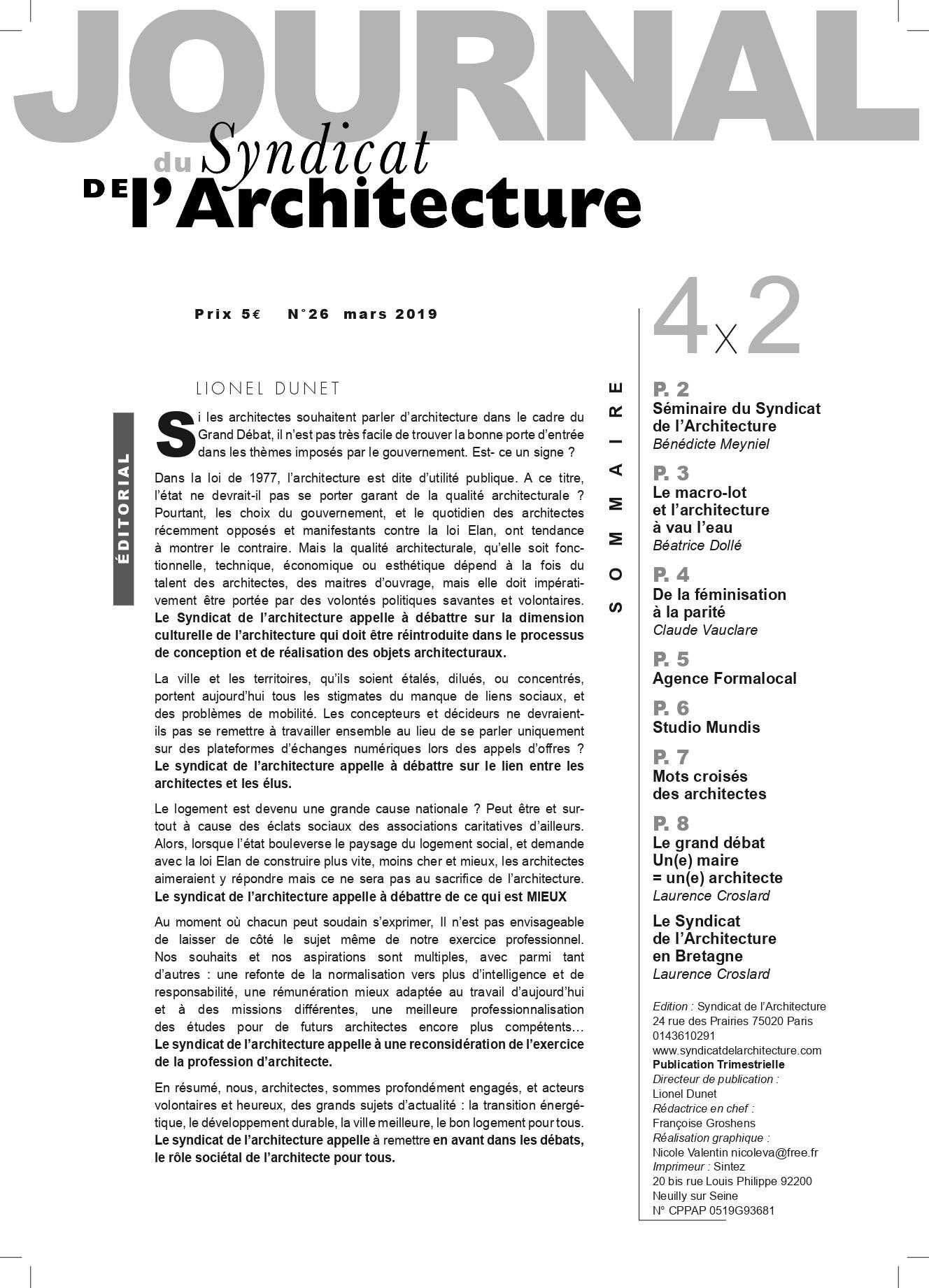 JOURNAL N°26