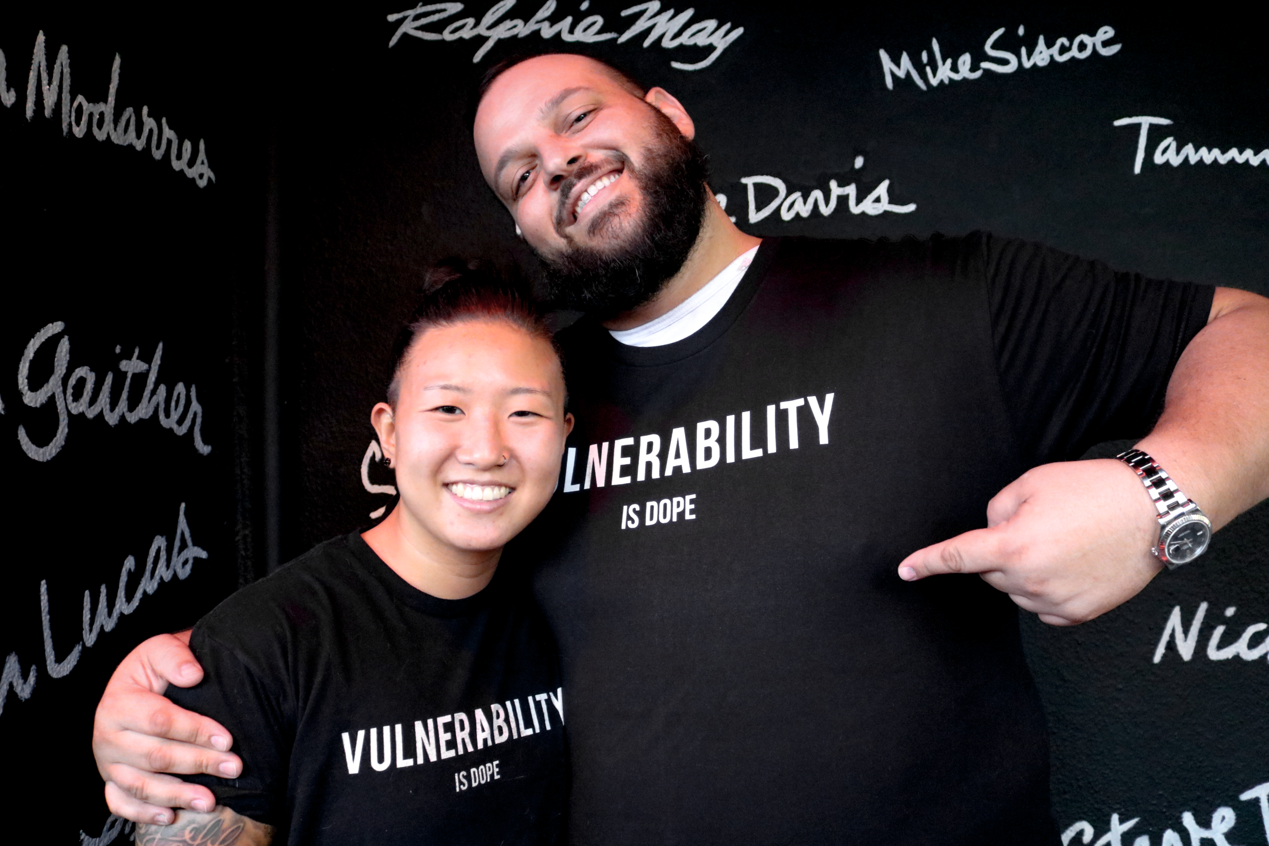 """*Picture shown: Jiggy (Founder) and Daniel Franzese (Mean Girls — """"She doesn't even go here!"""")*"""