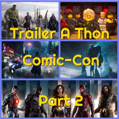 Trailer-a-thon: Comic-con - The Big screen - Welcome back to Trailer-A-Thon.This time around, we have a special two-parter lined up thanks to a metric f***ton (as Patrick says) of trailers from San Diego Comic-Con to cover.We cover the five film trailers that caught the attention of those in attendance from the much anticipated adaptation of
