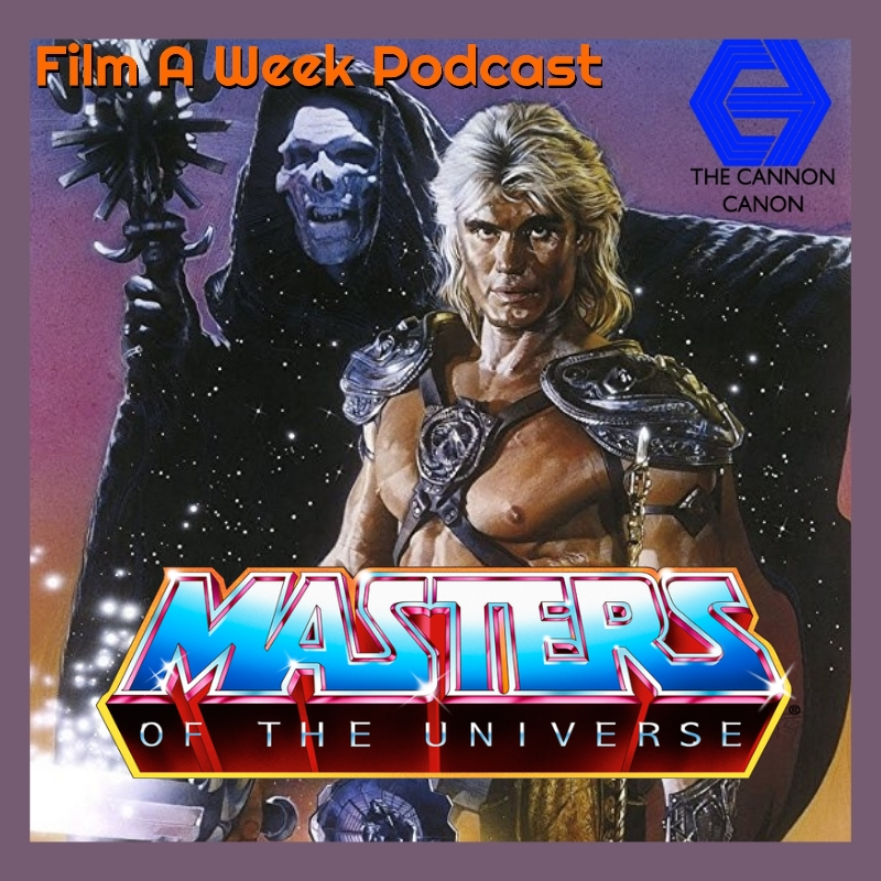 """ep. 110: thanksgiving special - """"masters of the universe"""" w/ special guest nick romi - By the power of Greyskull! The hosts tackles one of the most infamous cartoon adaptations with 1987's """"Masters of the Universe"""" with special guest Nick Romi, director of """"Danger Boys: Punks in Osaka."""" Listen as they talk about how Cannon got their hands on He-Man, Dolph Lundgren's sweet hair, Monica Gellar, Uptown Whittier and Frank Langella's favorite role (seriously!). (Nov. 22)"""