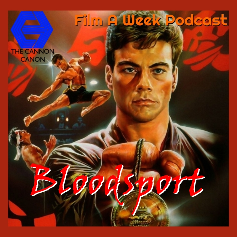 """ep. 111: """"bloodsport"""" - The Muscles From Brussels is finally here with all the kicking and splits you can handle in 1988's """"Bloodsport."""" The hosts head to the Kumite tournament to see Jean-Claude Van Damme lay waste to opponents,give their thoughts on JCVD's career and how this film is still one guilty pleasure masterpiece. (Nov. 30)"""