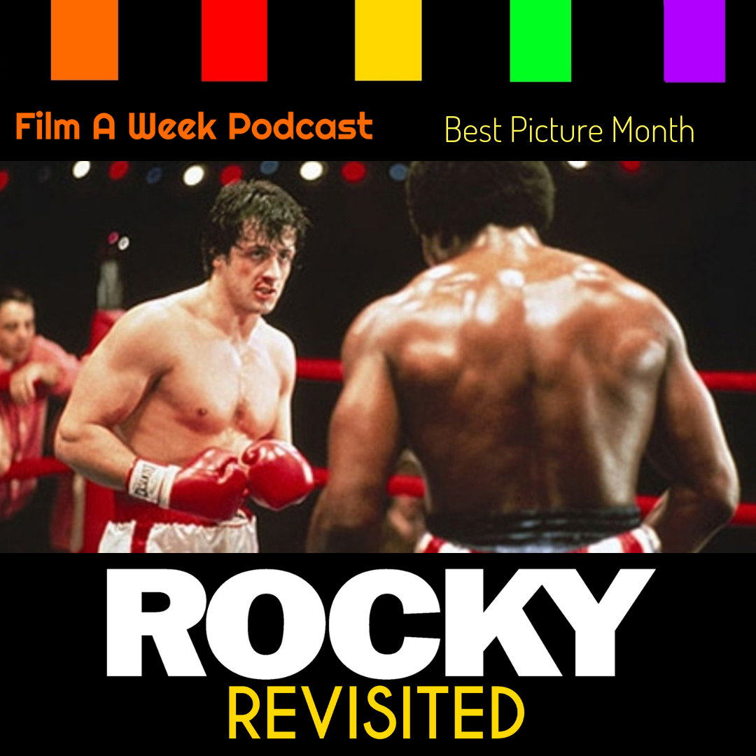 "EP. 114: Revisited - ""Rocky"" - In the final Revisited, the hosts take on the classic ""Rocky"" as they discuss the film's humble beginnings and the franchise that came after. Listen as they give a retrospective of the film series including Clubber Lang, montages, Ivan Drago, the ""Creed"" series. Yes,we also talk about that f***in' robot in ""Rocky IV."" (Dec. 21)"