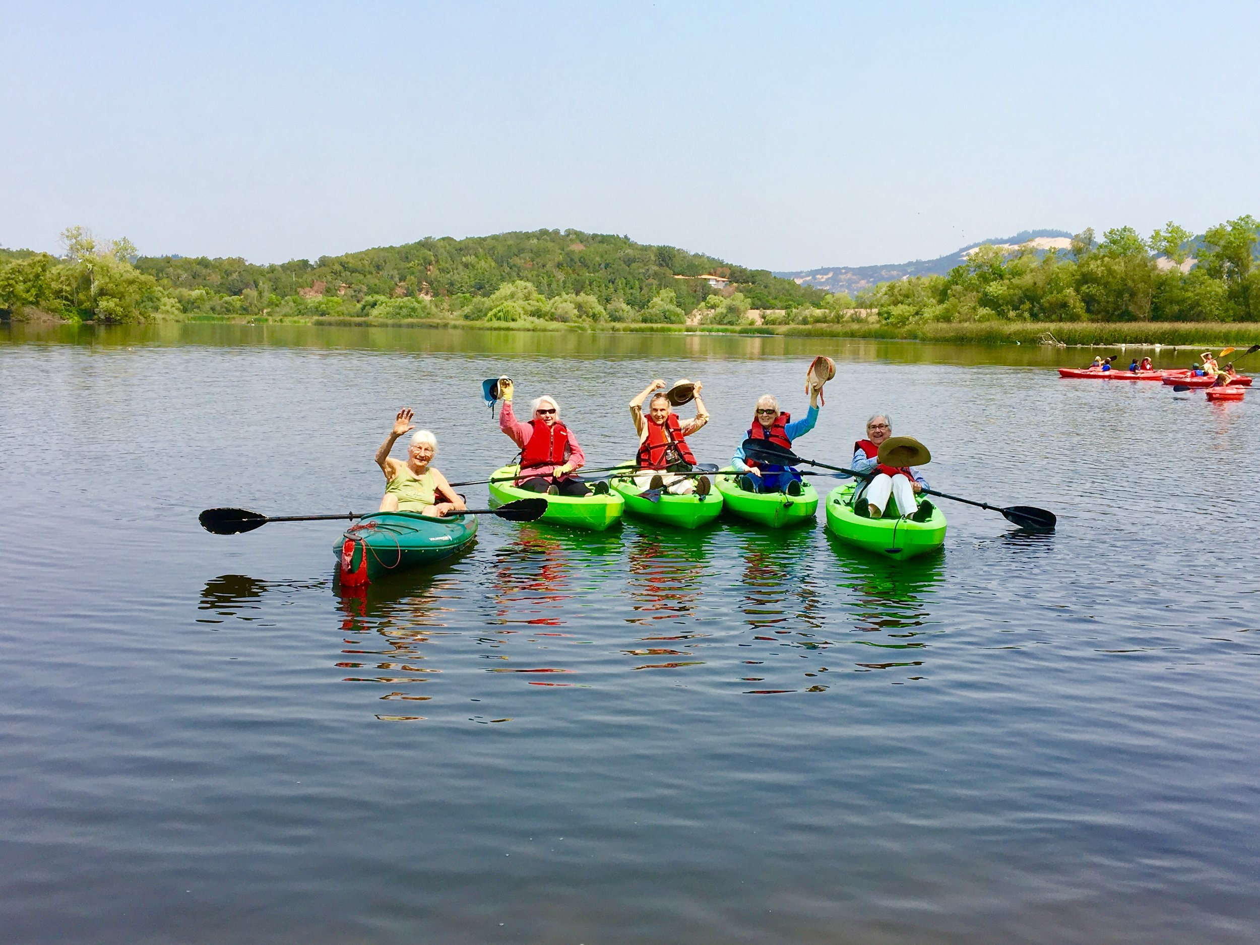 Our Residents kayaking at Spring Lake.