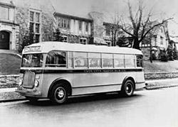 Twin Cities Motor Bus Company bus, Minneapolis, 1935. Photo: Metro Transit