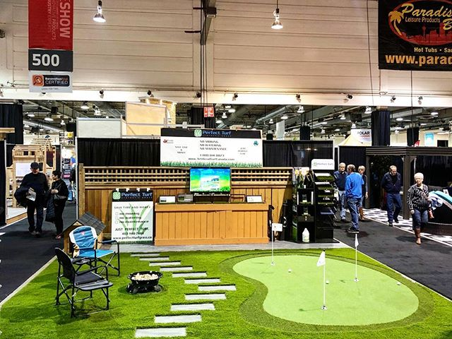 Come check out our turf and sink a couple putts this weekend at the Calgary Home and Garden Show, on until Sunday at the BMO Centre and Corral. ⛳️