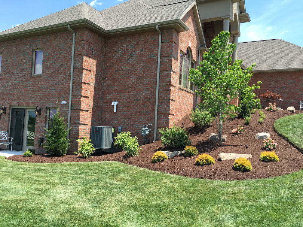 Landscape installation including plantings, trees and shrubs in Irwin, PA