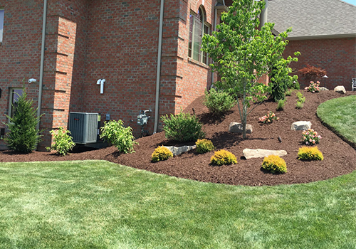 Landscape installation including plantings in Westmoreland County, PA