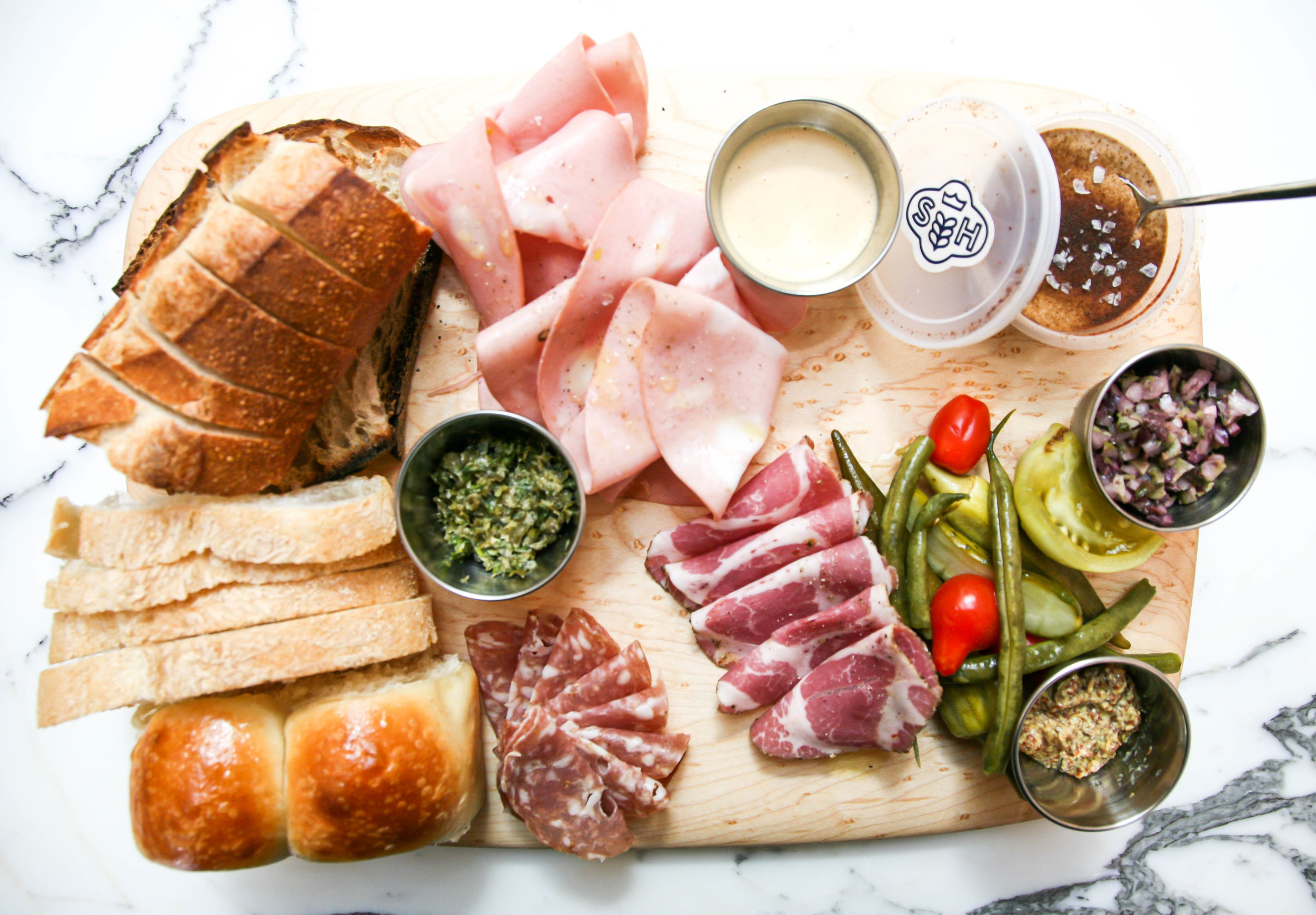 A Texas Sized Charcuterie Board at Swedish Hill. Photo Credit: Mcguire Moorman Hospitality