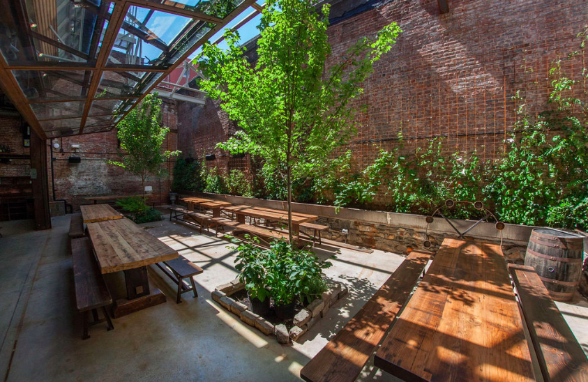 One of the many spots to enjoy a drink at the new Ainslie Italian Wine and Beer Garden: Photo Credit:  Thomaslphoto