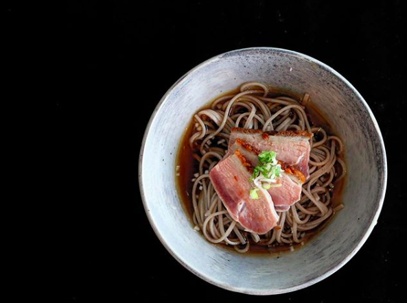 Duck and soba noodles at the soon to open Chikarashi Isso. Photo Credit:  Chikarashi Isso/Instagram
