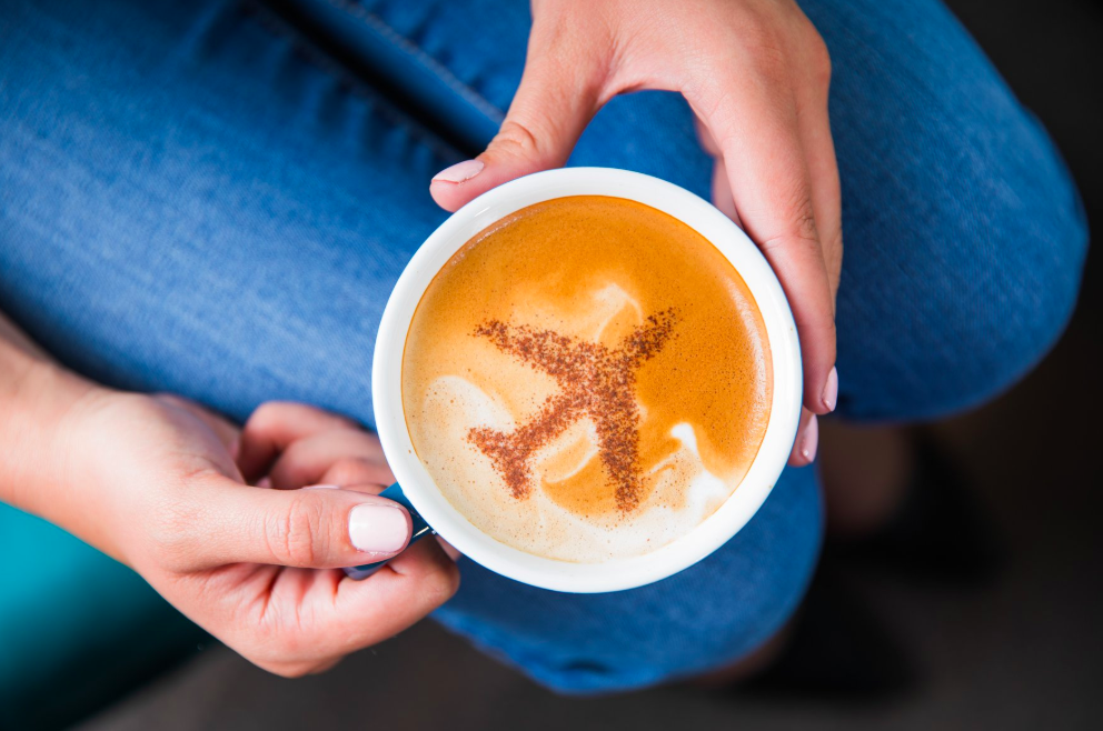 Drinking coffee before a long plane? Leisurely thinks not. Photo:  Alaska Airlines/Facebook