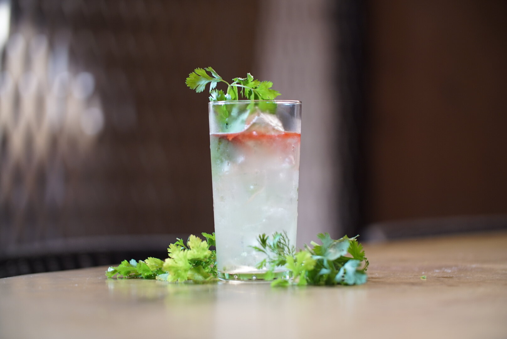 A cilantro cocktail that hopefully won't taste like soap to some. Photo: Emily Wong