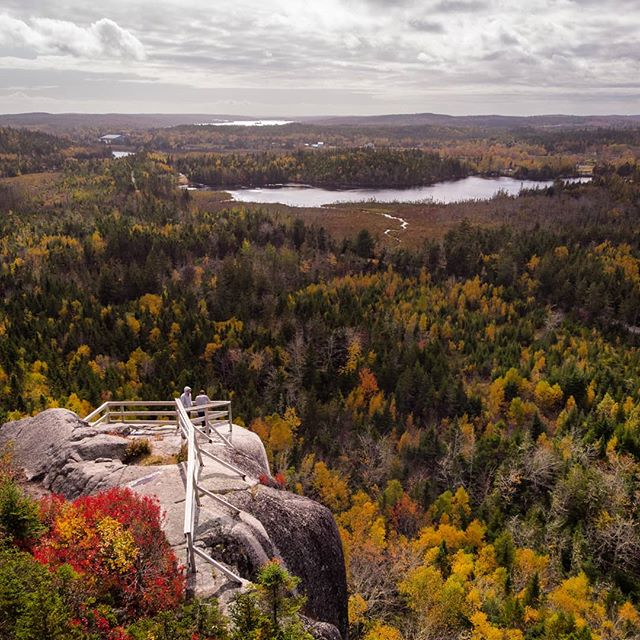 Overlooking beautiful Nova Scotian land 🏞️ #visitnovascotia #novascotia #dronestagram #djimavicair #exploreeast #explorecanada