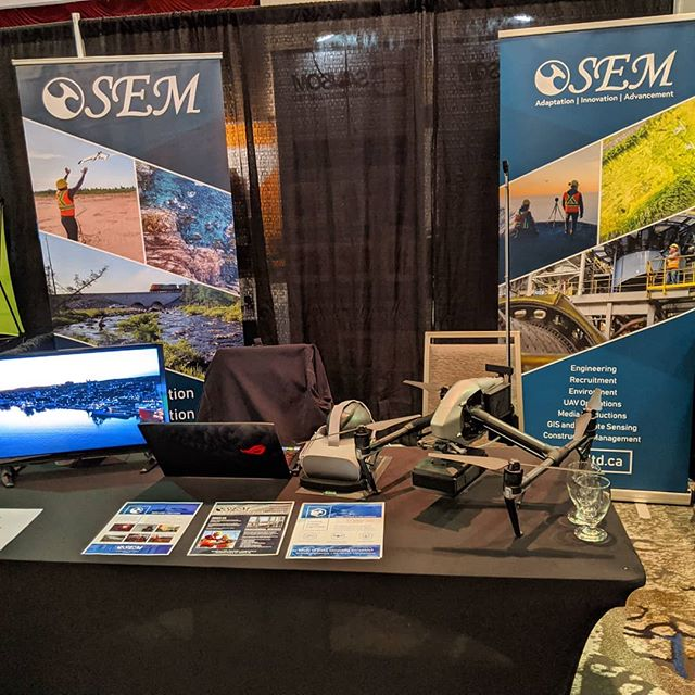We're at CIM's Mineral Resources Review - drop by our booth to discuss the latest in drone technology!  #newfoundlandandlabrador #MRR2019 #mining #yyt