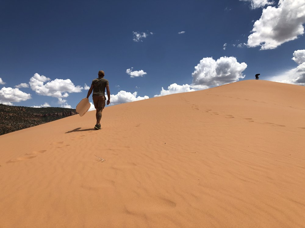 Sand Boarding At Coral Pink Sand Dunes Out Of Office Adventure