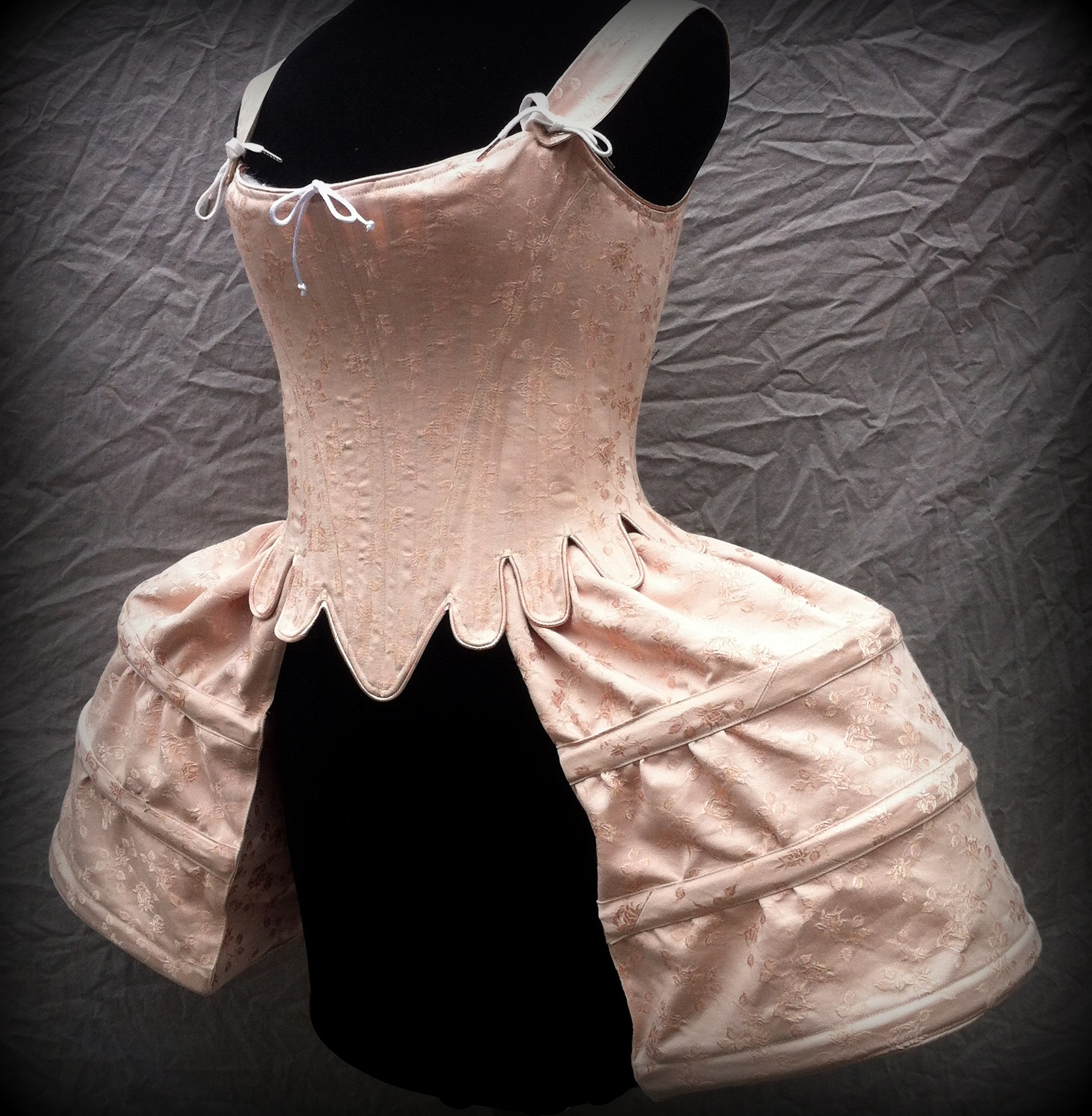 Period Corsets pocket hoop brocade.JPG