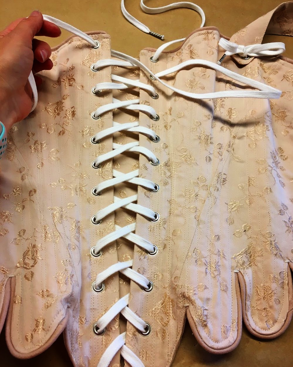 Period Corsets Marie Antoinette stays dusty rose