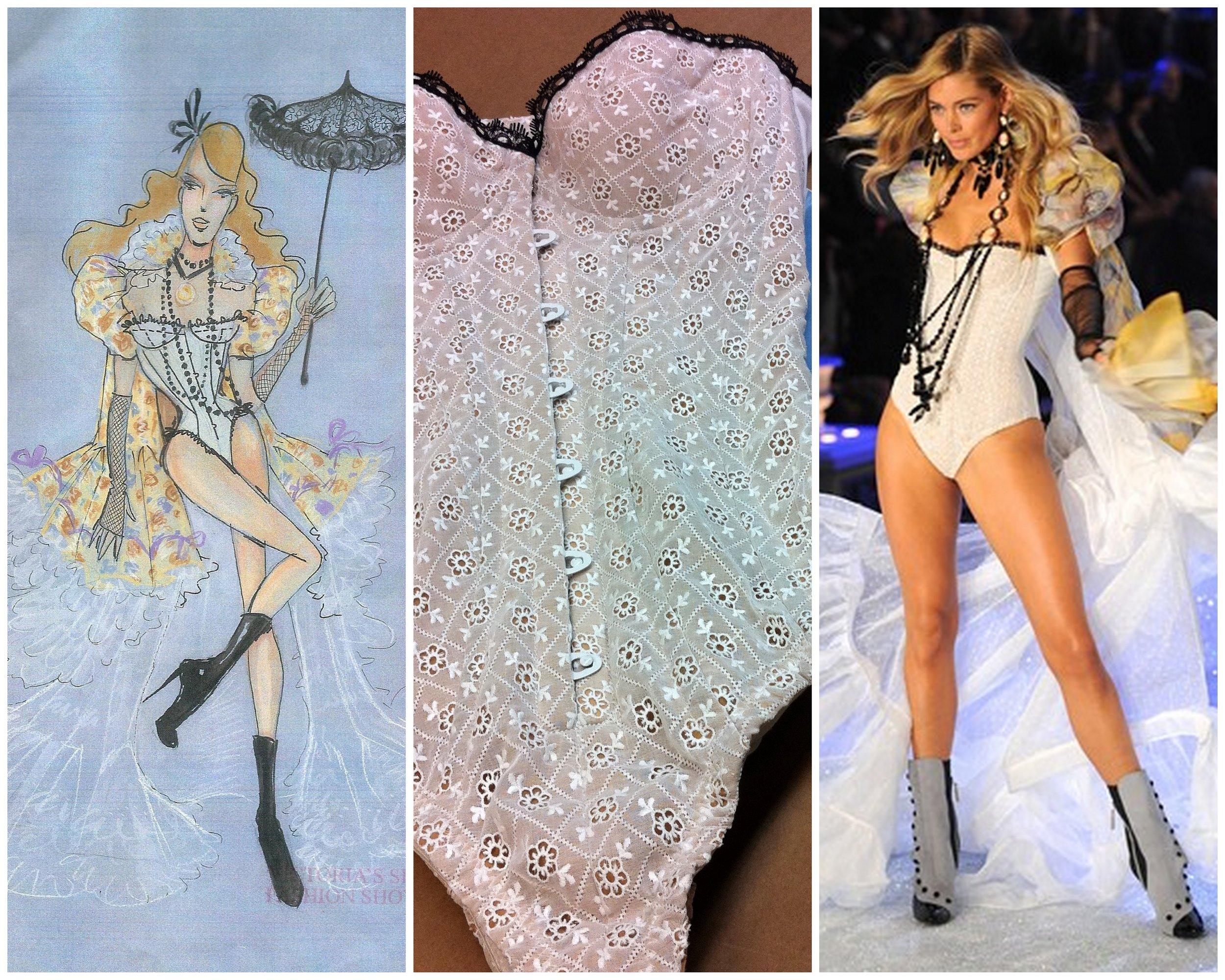 design sketch by Todd Thomas, photo- Victoria's Secret Fashion Show 2011