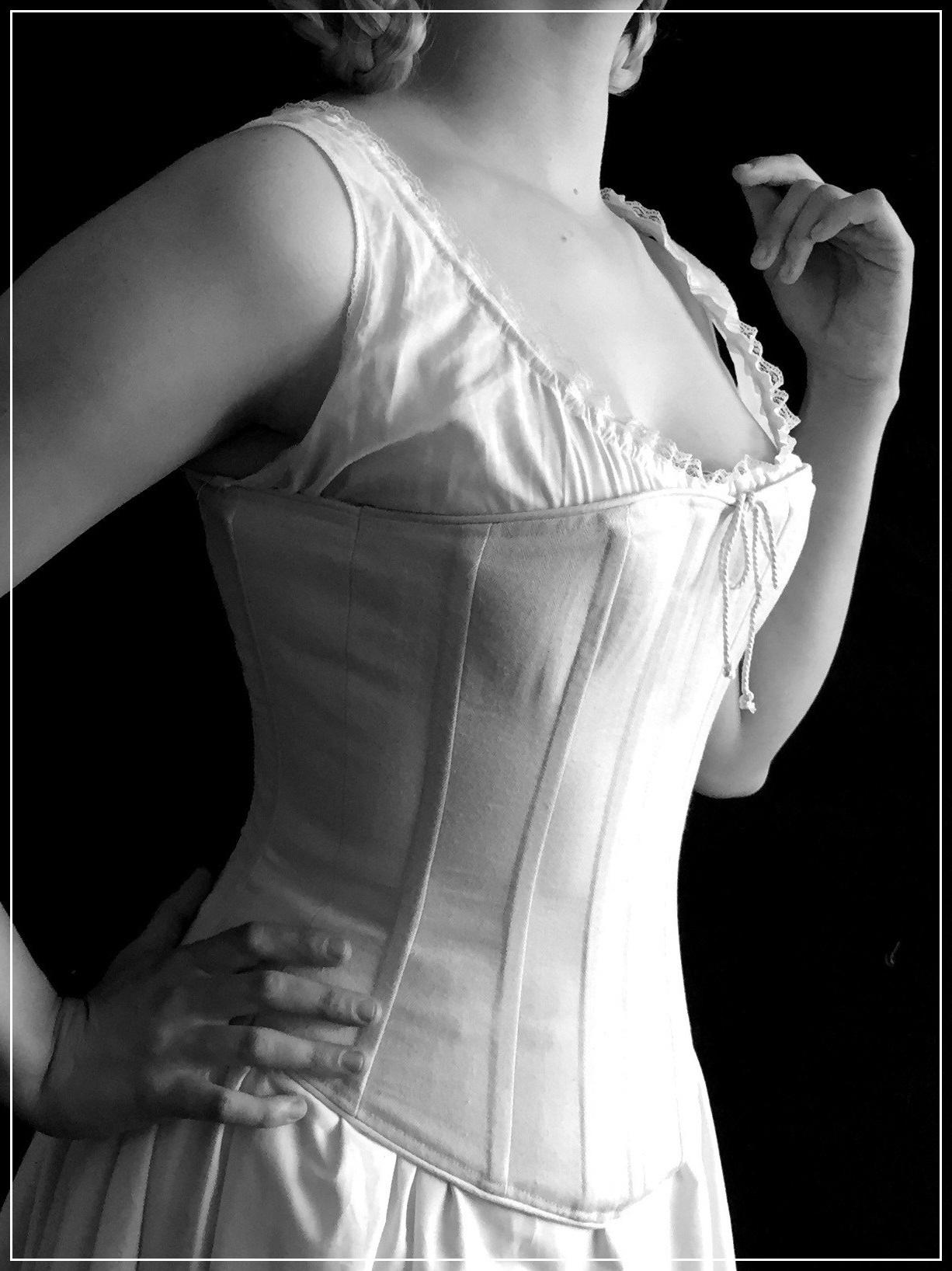Juliette, 19th c. corset-  click for more info