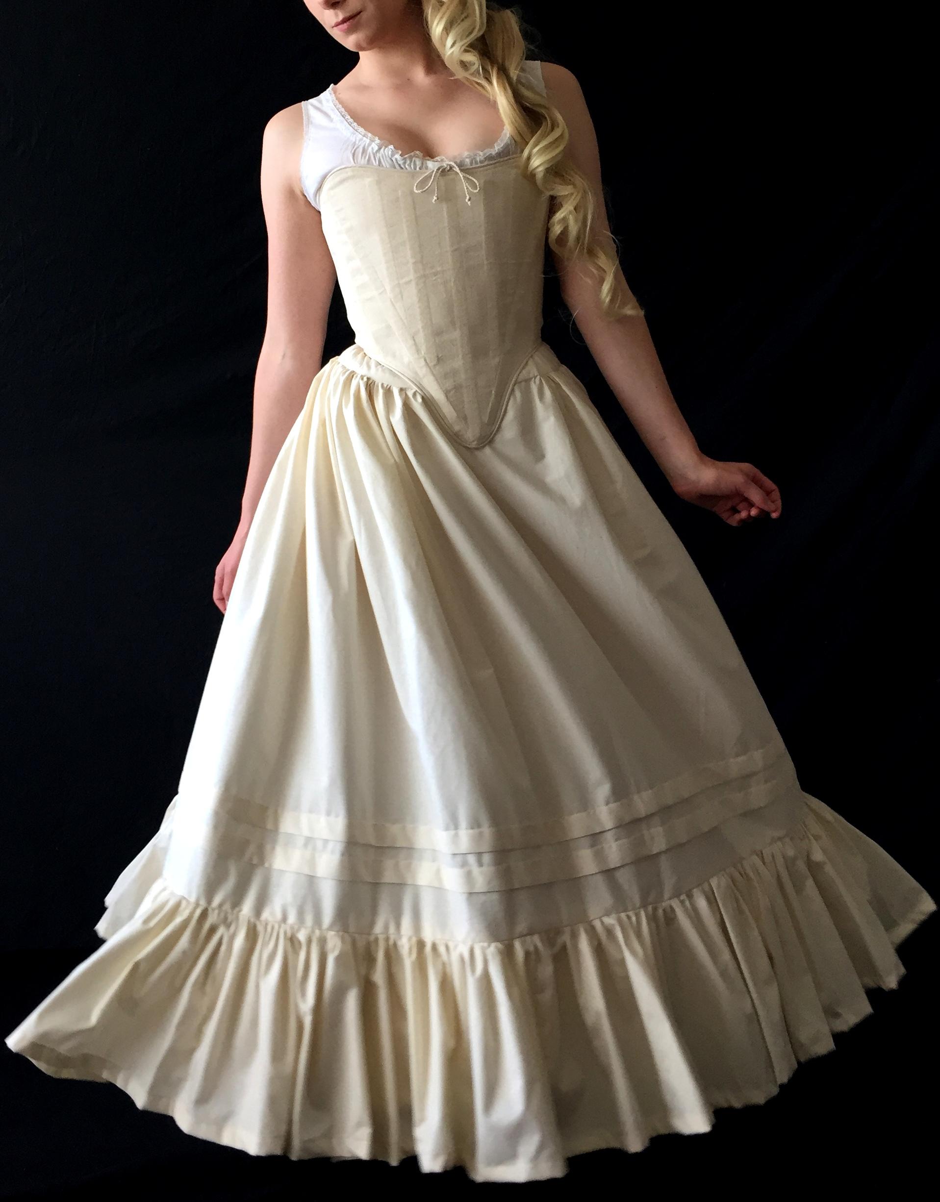 Period Corsets Judy peasant petticoat .JPG