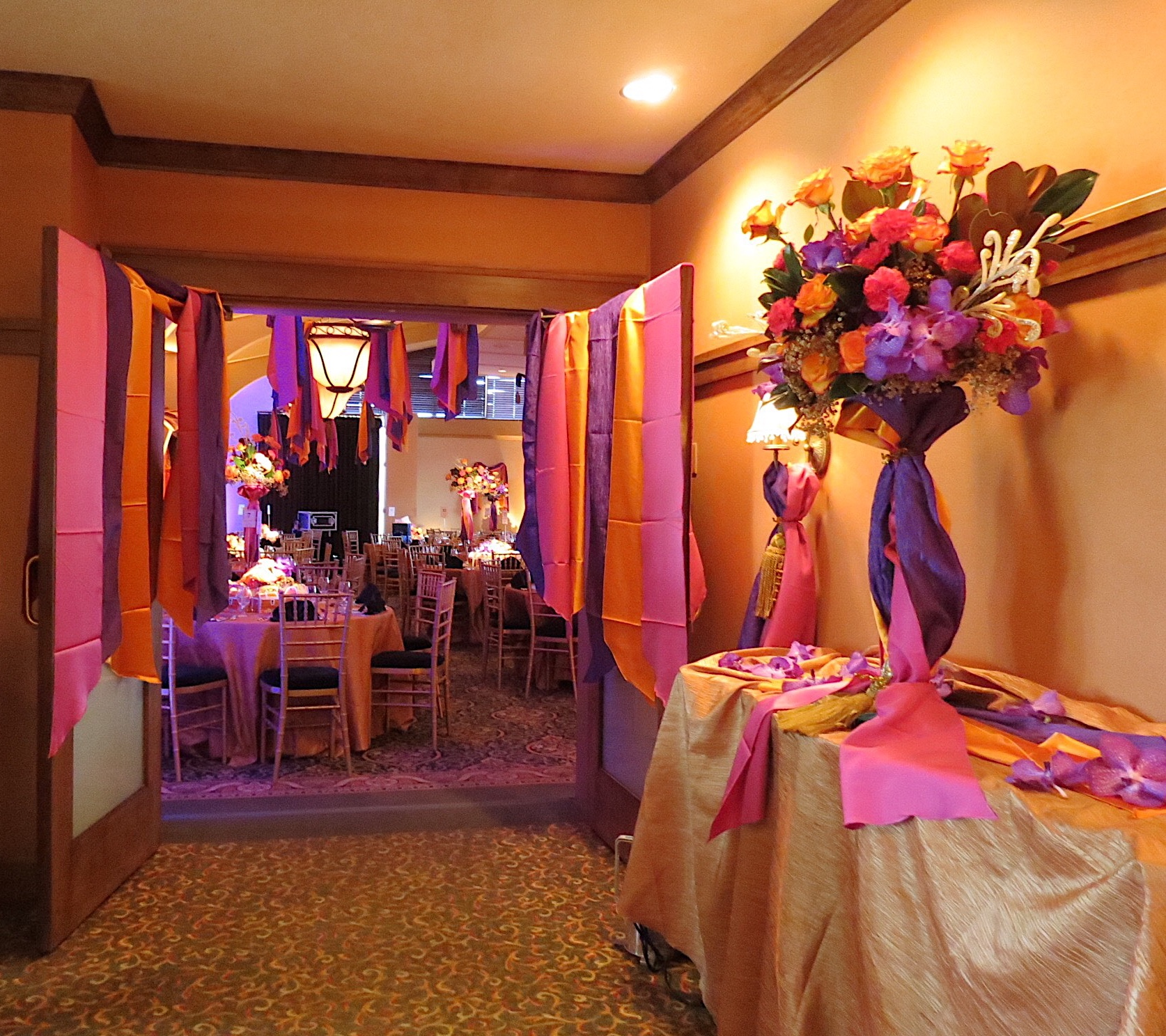 """Fill the Treasure Chest"" Fundraiser event for Boys & Girls Club of Greater Peoria at Mt. Hawley Country Club // Lighting by Extreme DJs and Lighting // Florals, Draping, and Decor by Michele's"