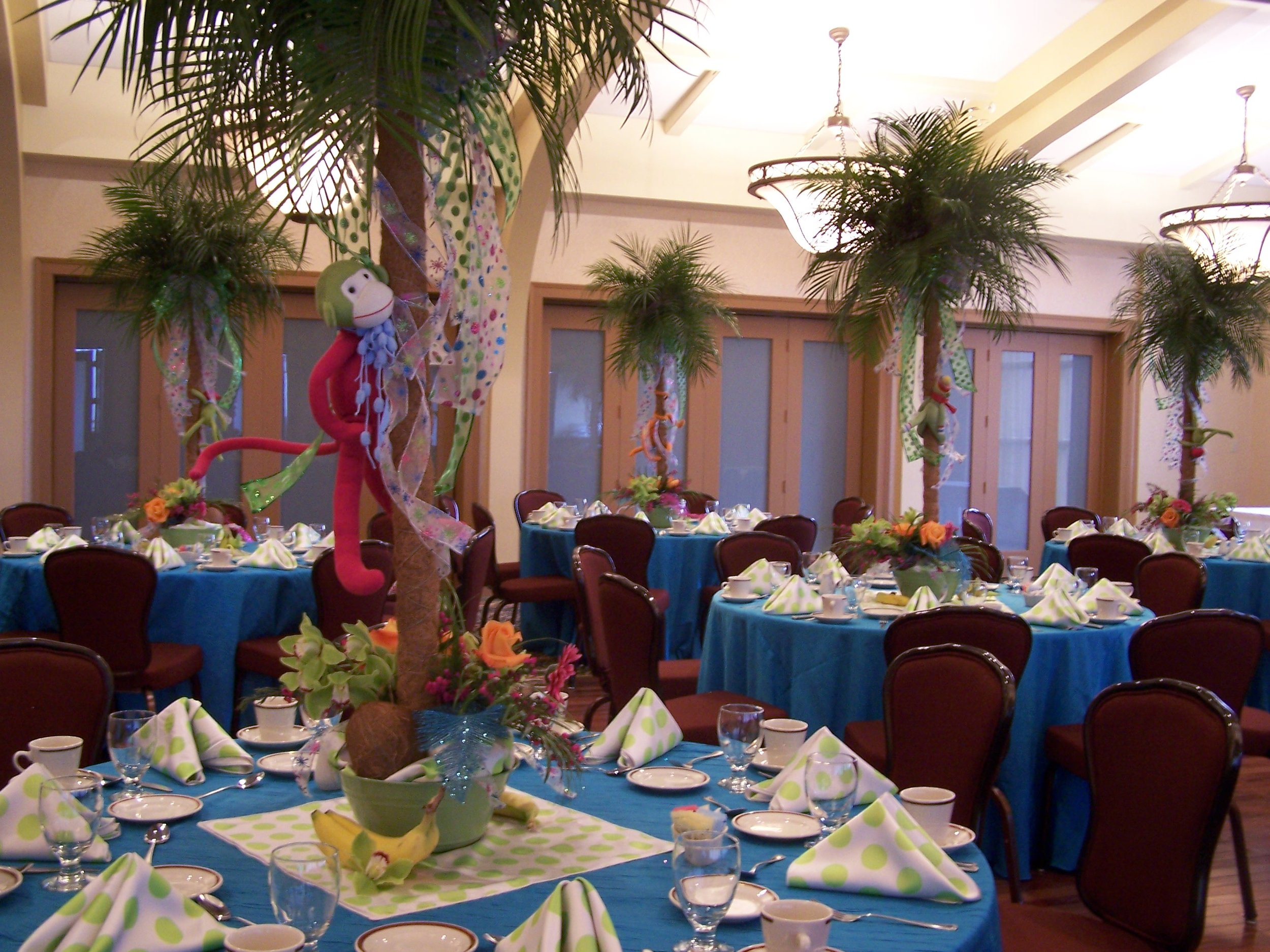 Baby shower at Mt. Hawley Country Club // Linens and Floral Decor by Michele's