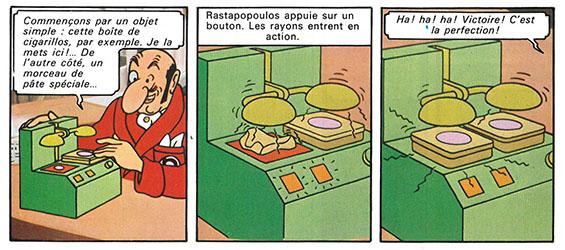 La photocopieuse 3D du professeur Tournesol (Tintin et le lac aux requins - 1972)