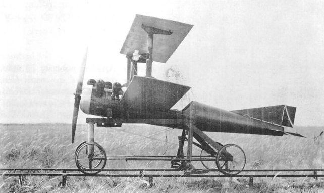 Le Kettering Bug lors de ses premiers tests aux Etats-Unis (1918)