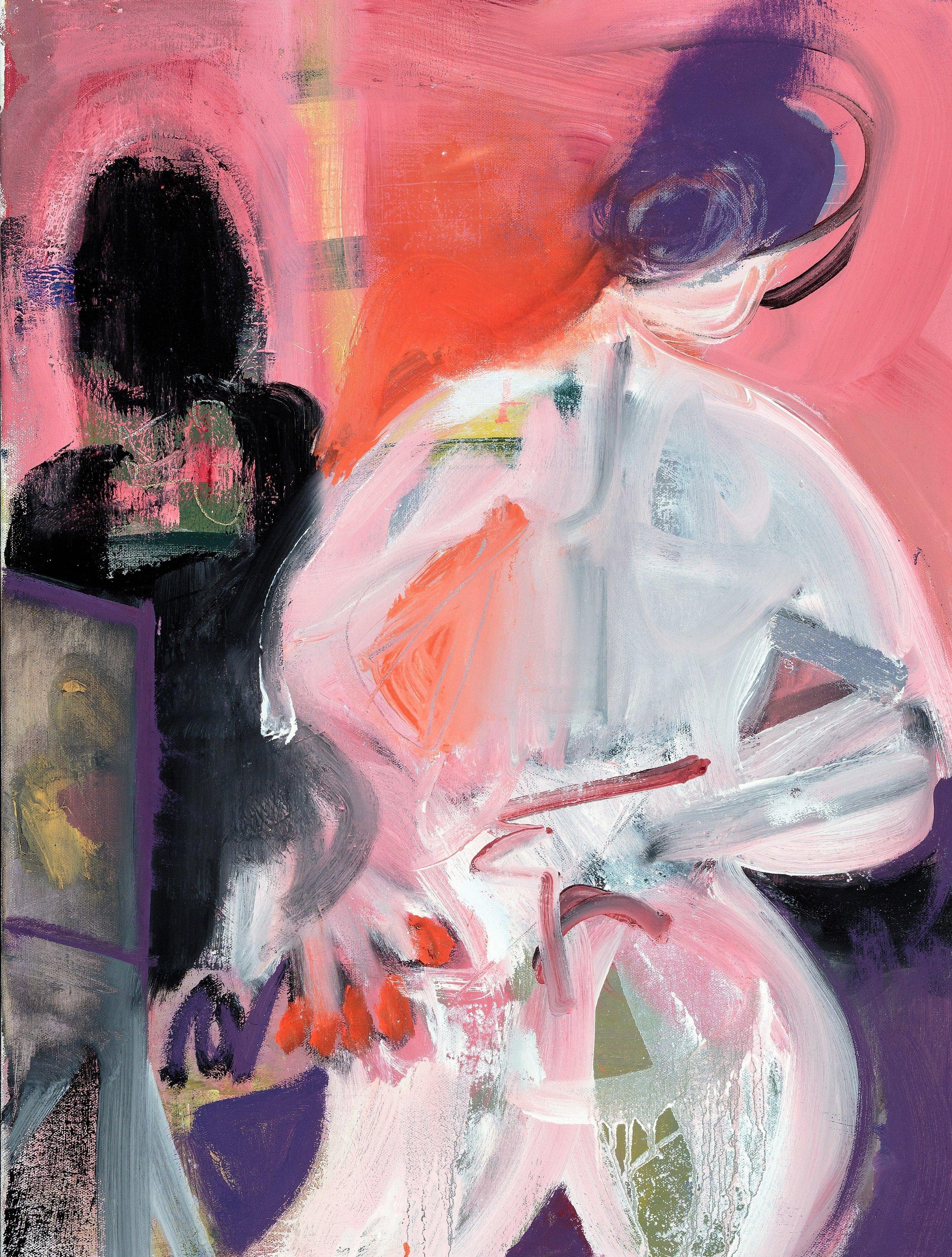 "#4, 2017, Oil on Canvas, 24 x 18"""
