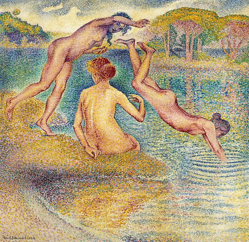 Henri-Edmond Cross, Das fröhliche Bad, 1899-1902, Privatsammlung. Courtesy Artvera's Gallery