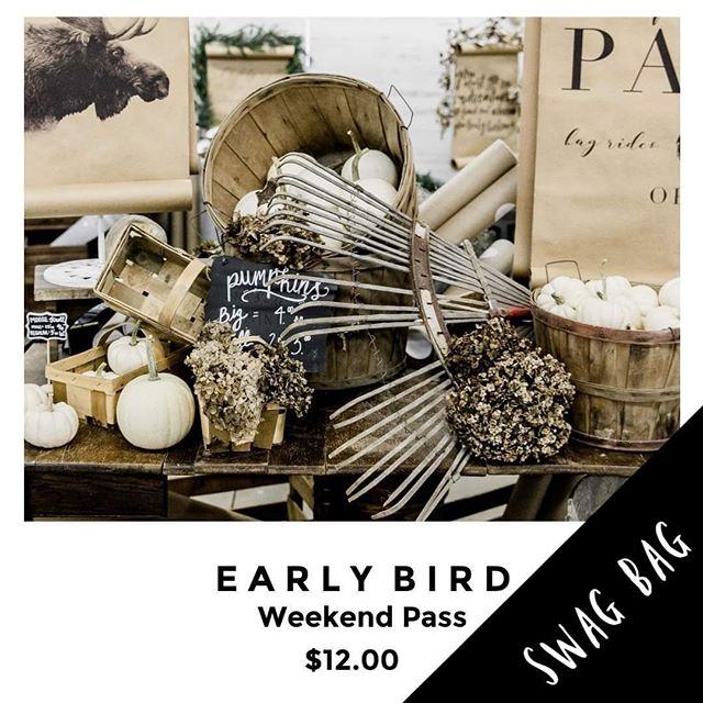 Early Bird Weekend Passes are on sale now and the first 25 sold will also receive a free Swag Bag at the gate! Hurry, because these will go fast! Link in bio 🍂A Day In The Country Sept. 28 + 29 Ohio's Portage Co Fairgrounds.