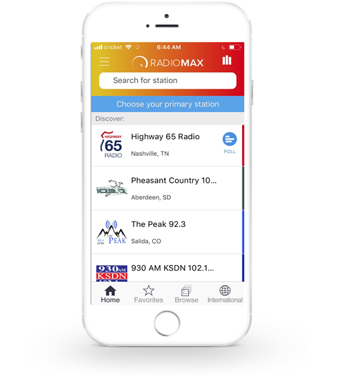 Individual App via RadioMax Aggregated App
