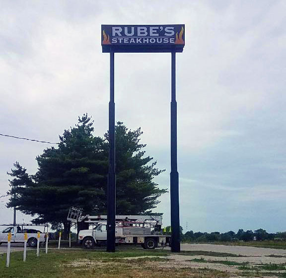 Pole Sign for Rube's Steakhouse