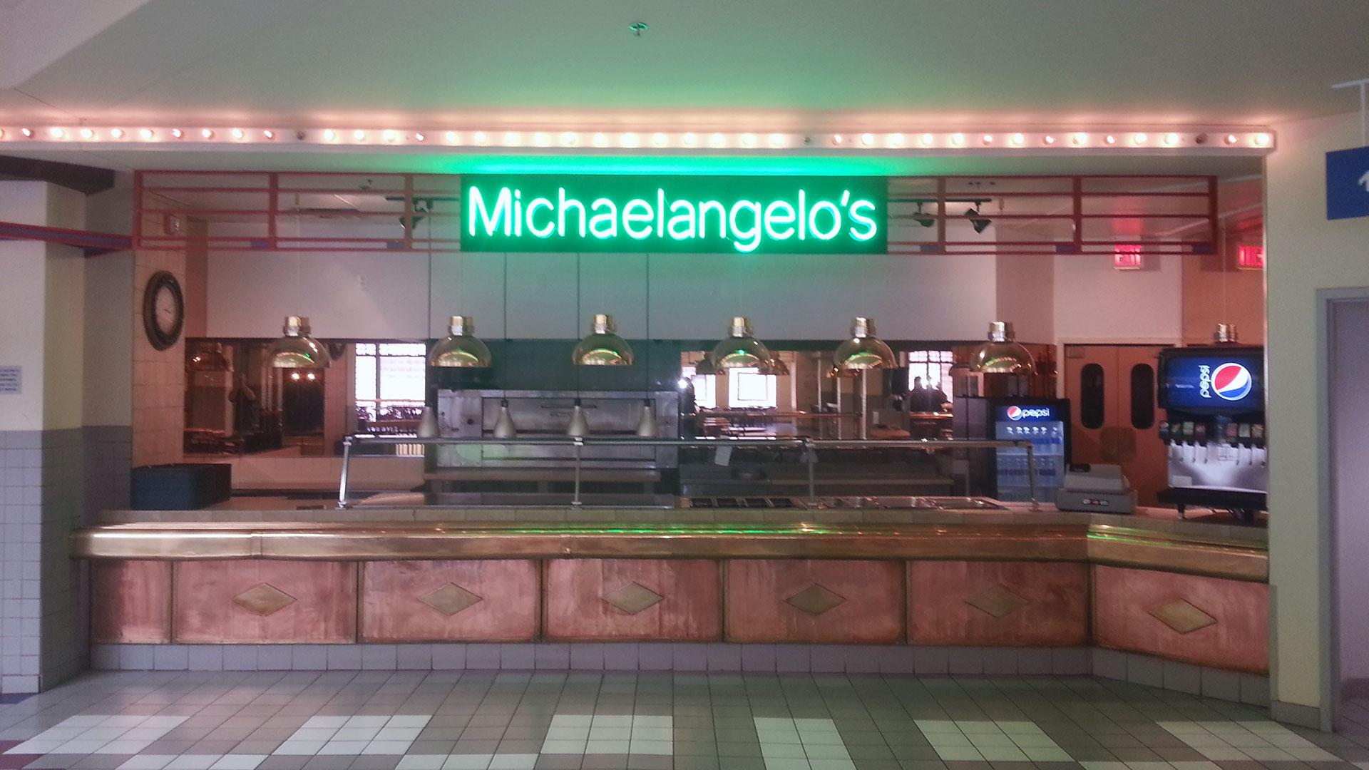 Michaelangelo's Neon Sign