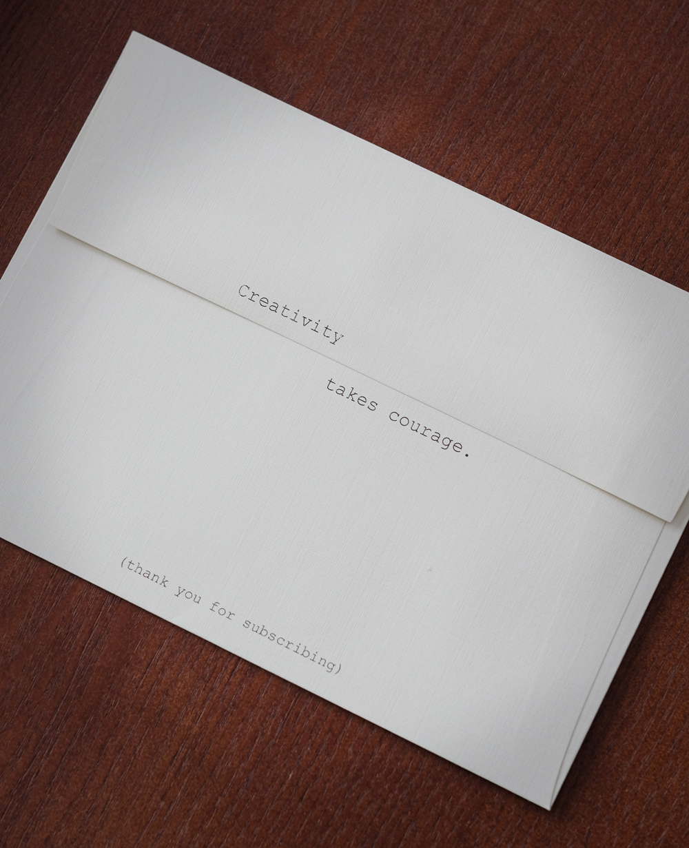 The back of the envelope used for Letter #3.