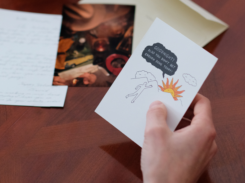 One of Ramin's art cards that was featured in Letter #3.