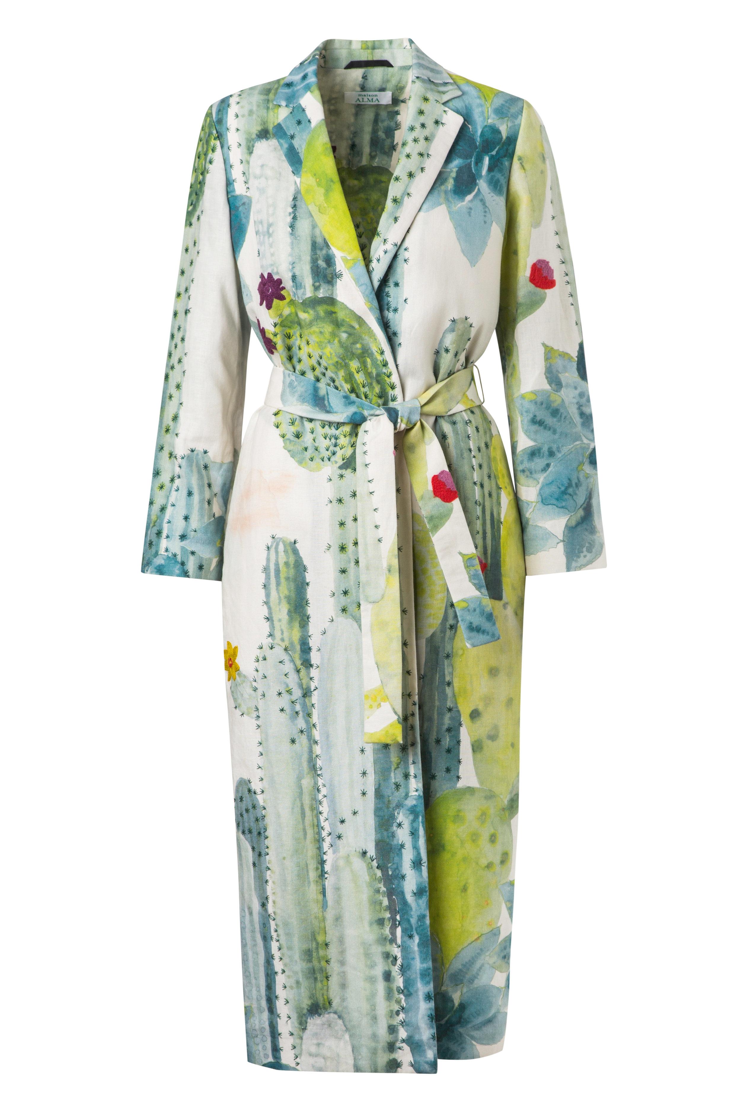 El Cactus  Kimono Wrap Coat