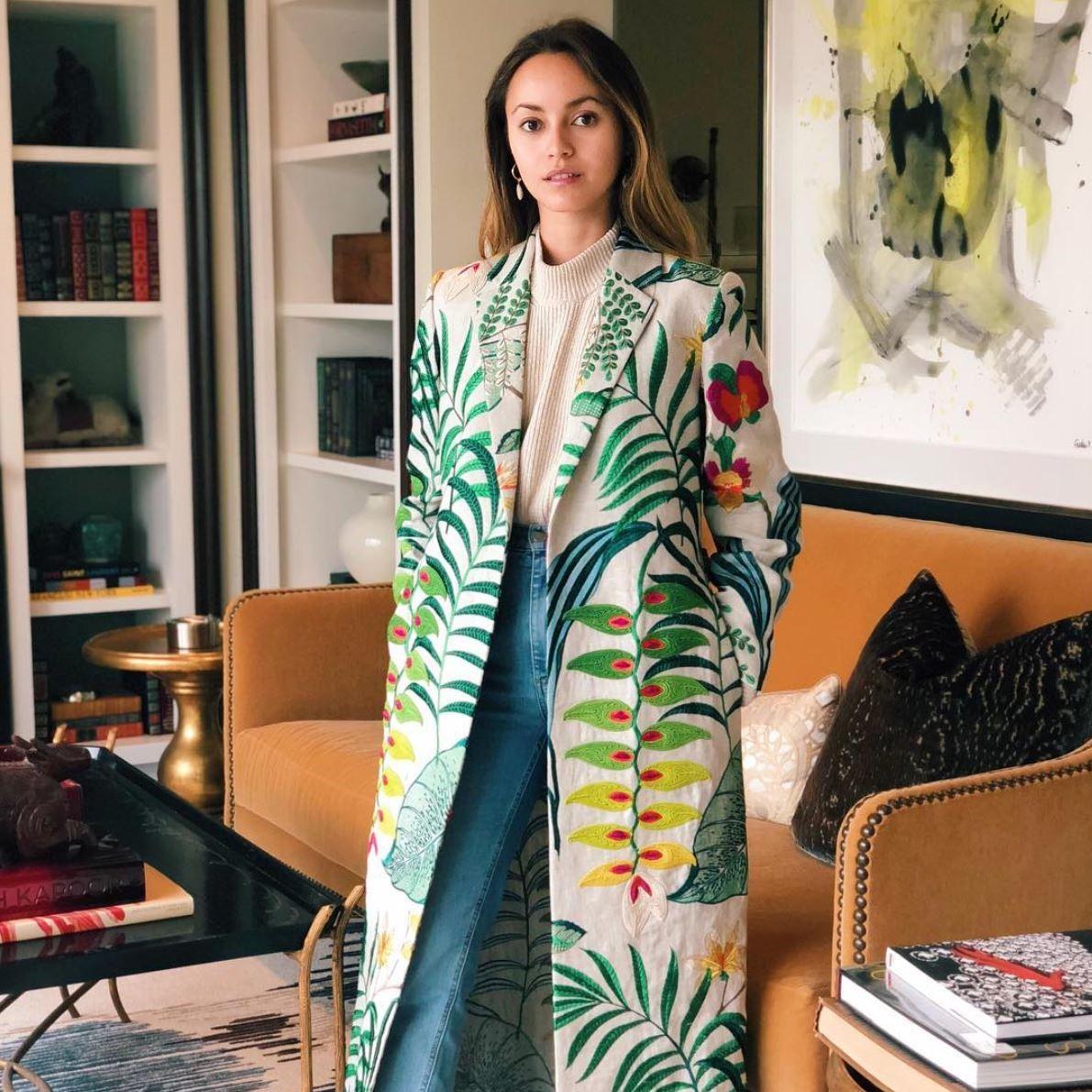 KATRINA RAZON - Heliconias Kimono  #DJ #ManagingPartnerKSR #almagirl #girlboss  @ Her Apartment in LA