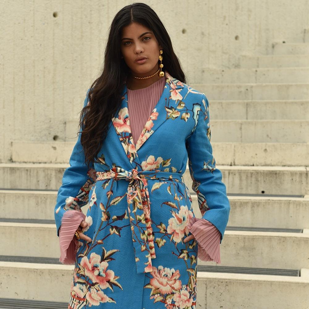 NAOMI DIAZ - Mar y Rosas Kimono  #singer #songwriter #artist #ibeyi #almagirl #girlboss  @ Shoot for Vogue, Bogota, Colombia