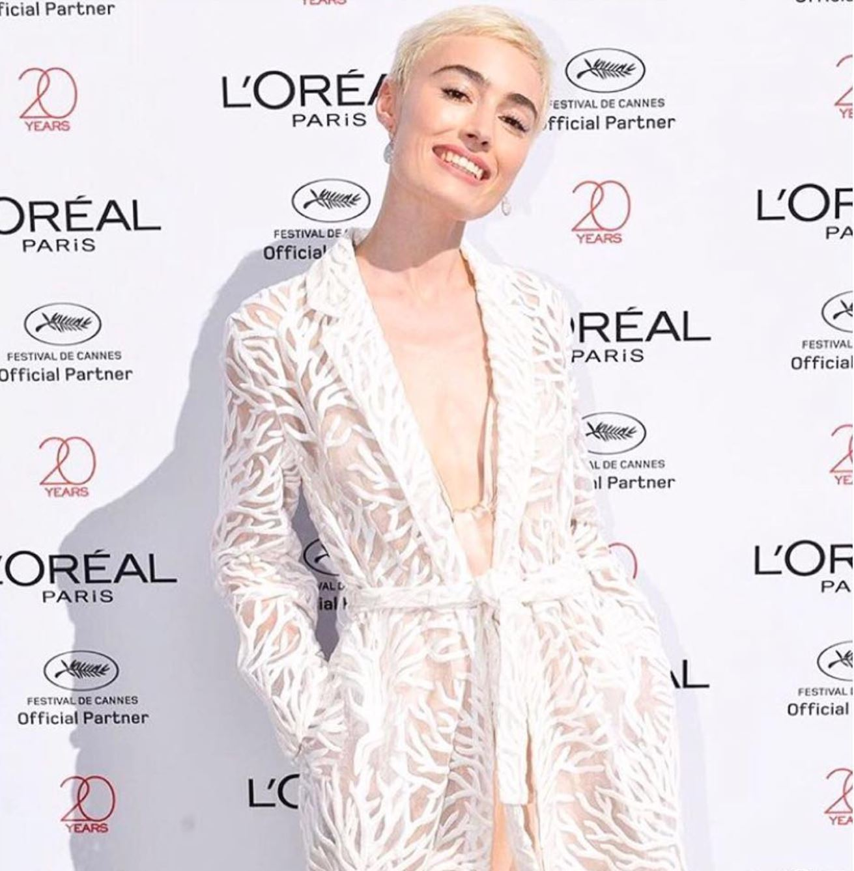 ELSA MUSE - Velo de Coral Kimono  #Creativedirector #estudiomumuse #maisonalma #girlboss  @ Festival de Cannes