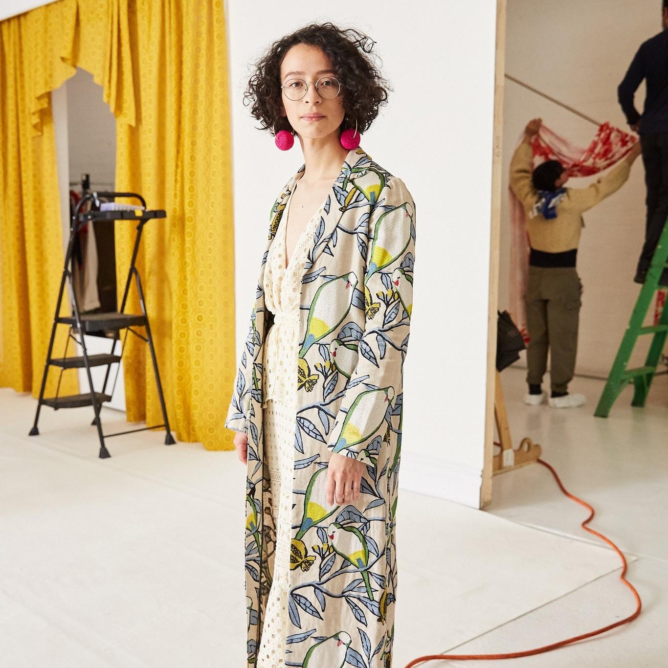DIDI ROJAS Dos Loros Kimono  #ceramist #plasticartist #girlboss #almagirl  @The New York Times shoot, NYC