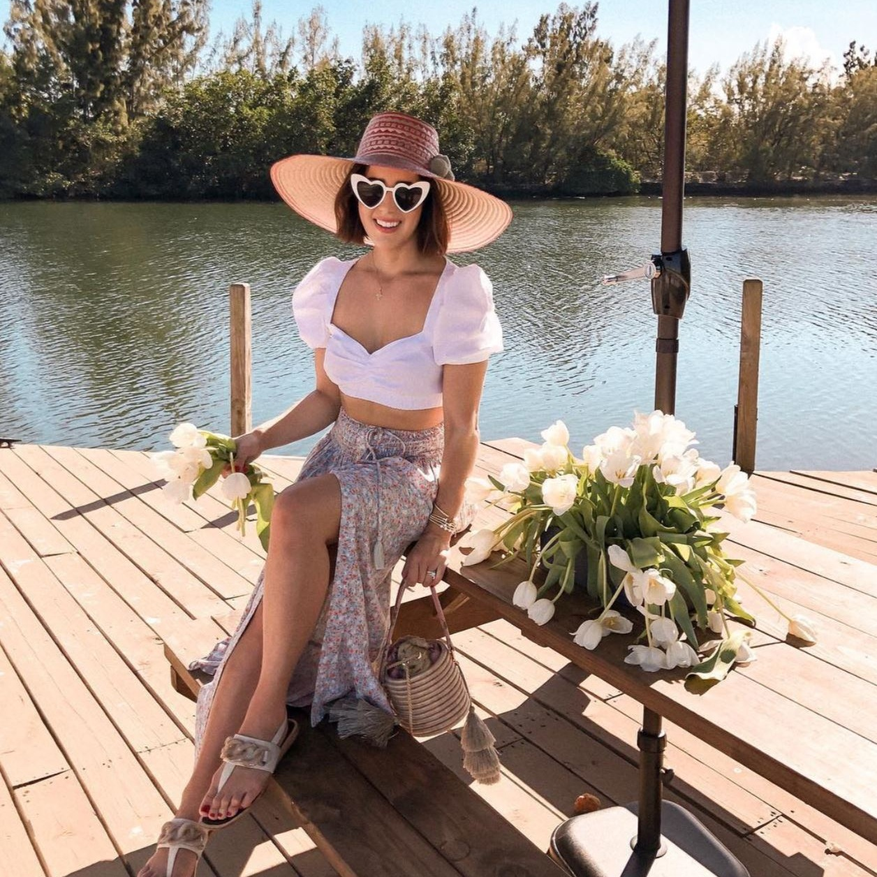 KELLY SAKS - Paraiso Rose Bucket Bag  #cubandominican #miamistyle #almagirl #girlboss  @Miami