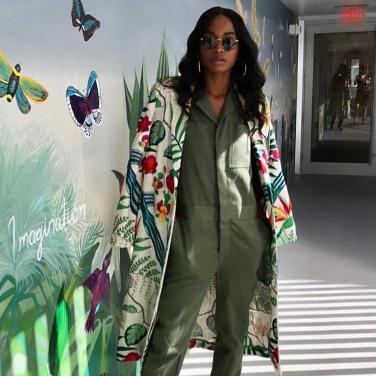 ALIYAAH RILEY - Heliconias Kimono Coat  #almagirl #girlboss  @Miami