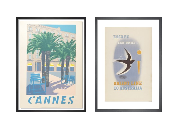 1.  Cannes screenprint by Quentin King   2.  Escape from Winter