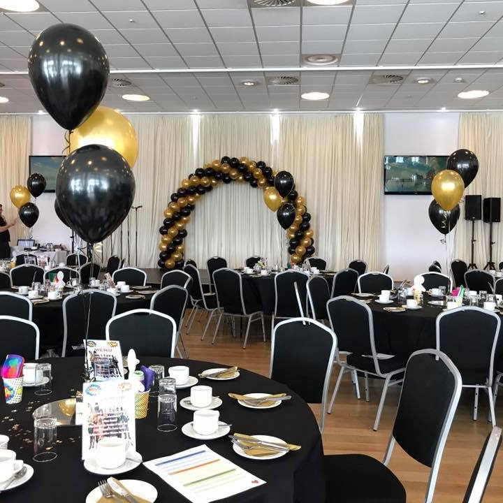 3 Balloon Trios and Twisted Arch Black and Gold Grand Pier.jpg