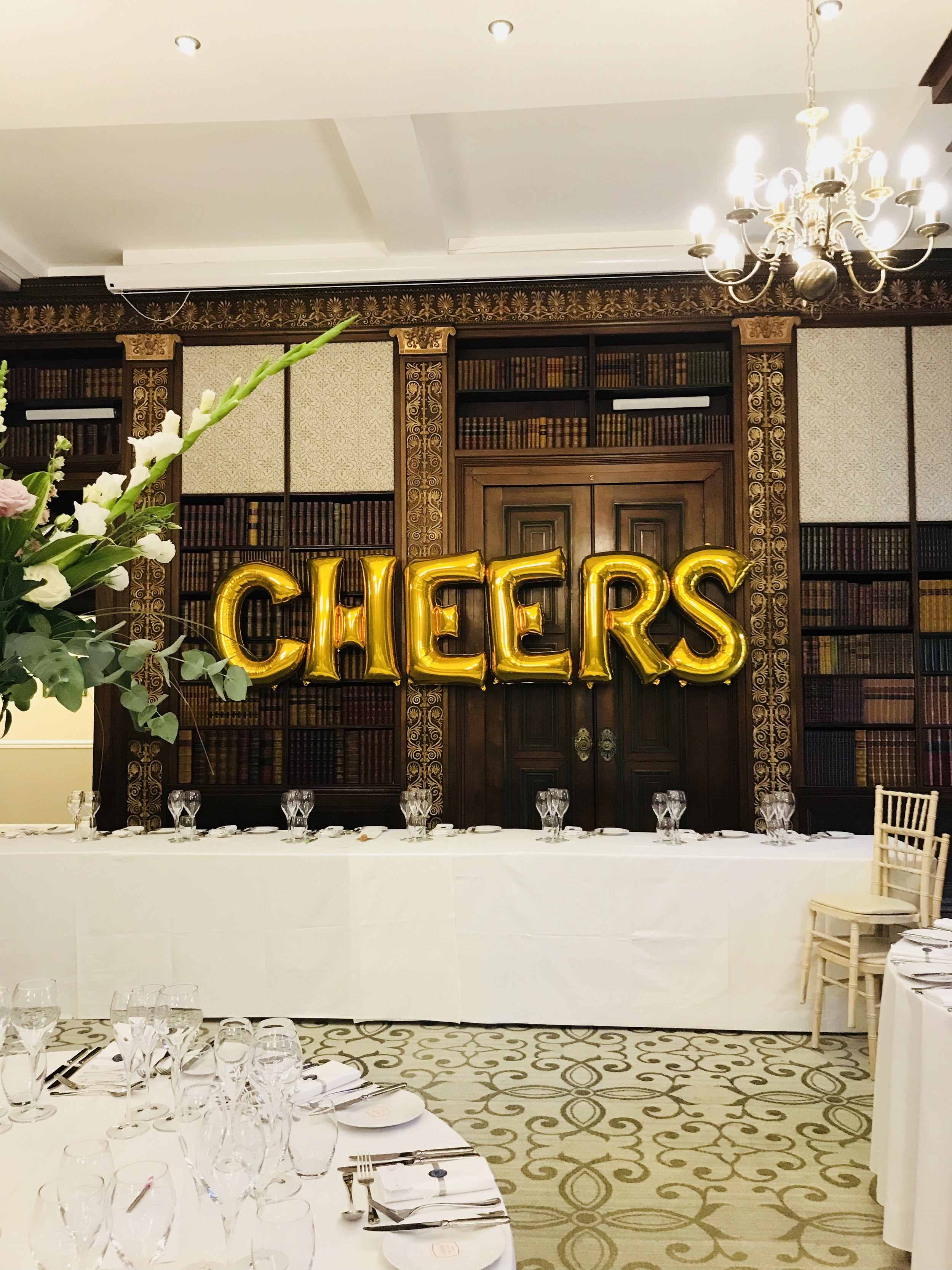Cheers Letter Balloon Display