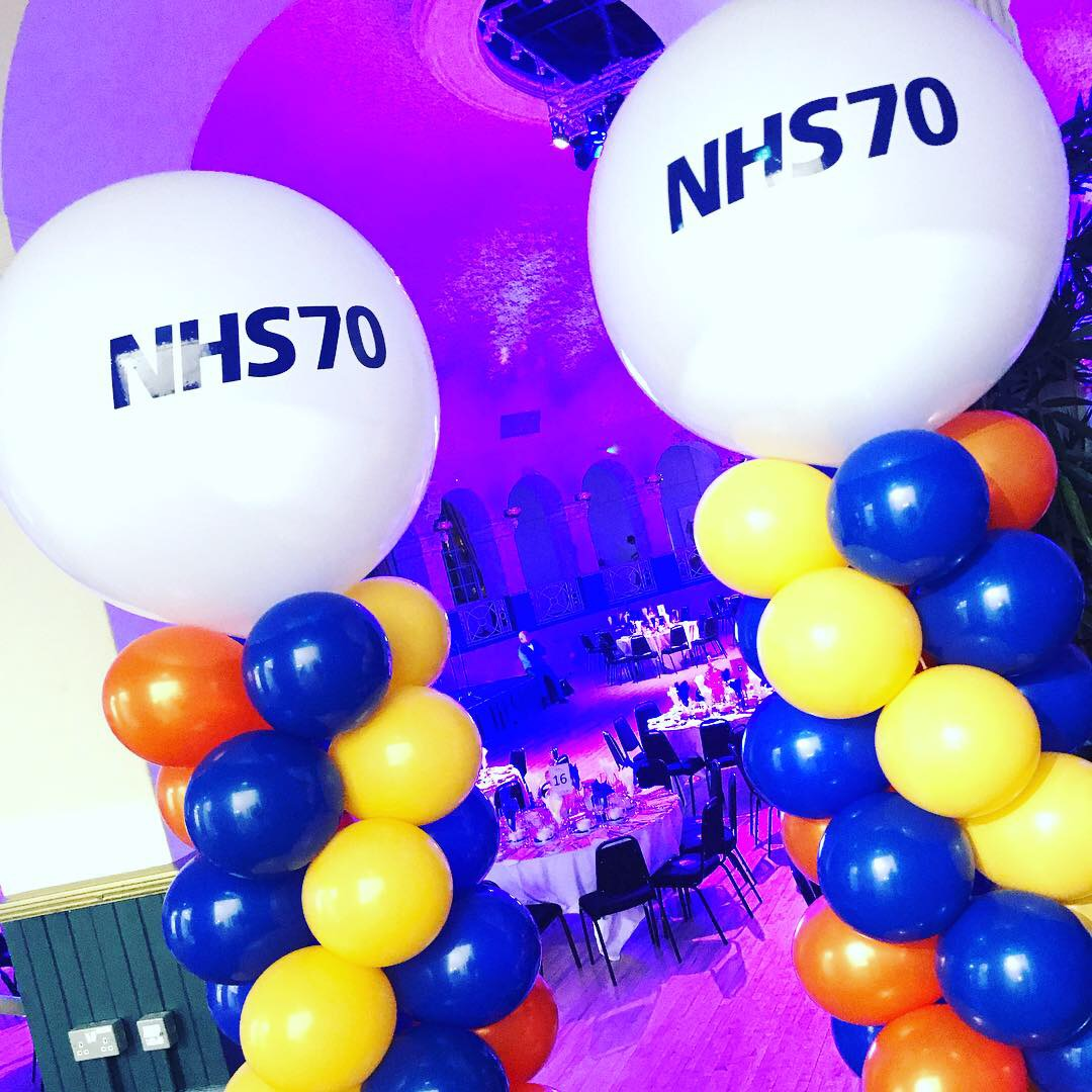Branded Balloons for NHS celebrating 70 Years