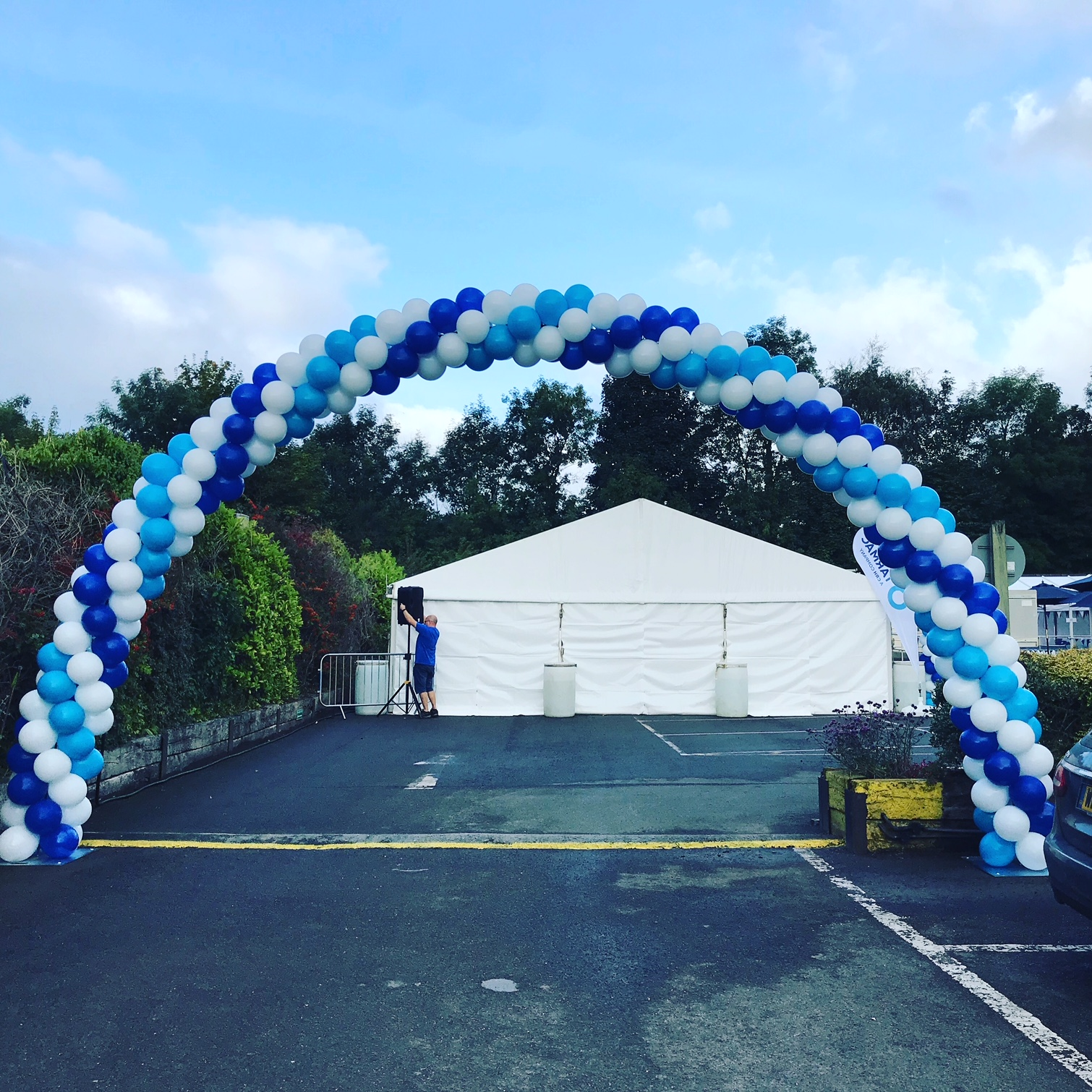 Giant Balloon Arch for Tarmac
